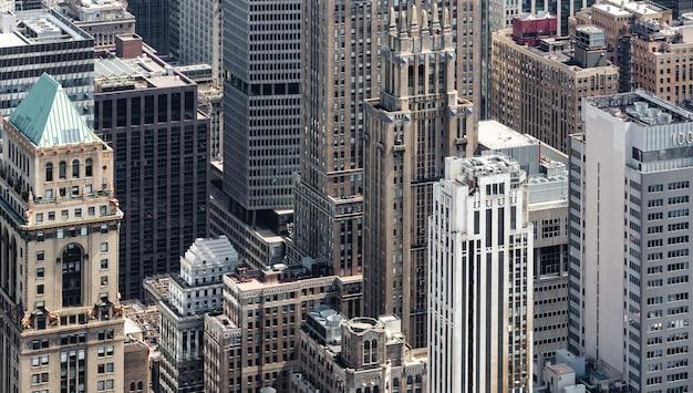 New york cityscape vogelperspektive