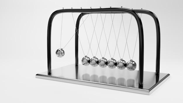 Newton-ball, balancierballdesign, impulsschwingenbewegung, wiedergabe 3d