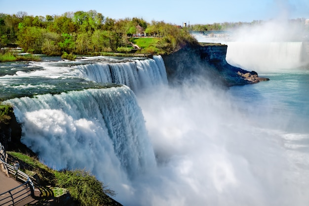 Niagara fällt im sommer