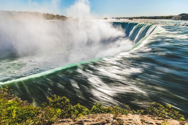 Niagara falls langzeitbelichtung von oben