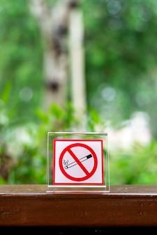 Nicht rauchen im café