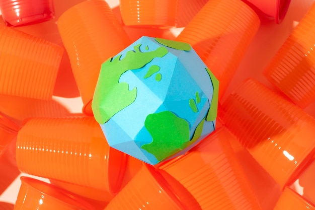 Nicht umweltfreundliche plastikgegenstände