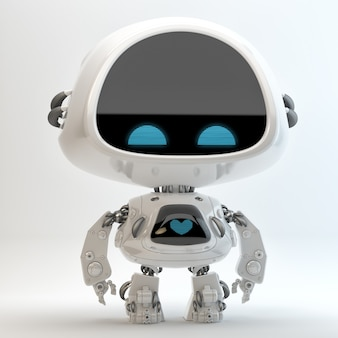 Niedlicher robotercharakter