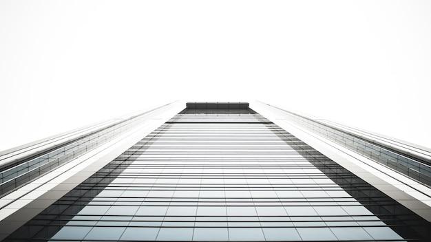 Niedrige winkelansicht des hochhausgebäudes