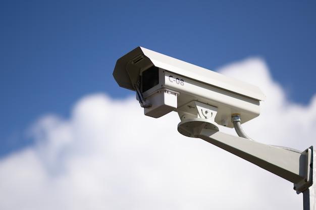 Niedrige winkelsicht der überwachungskamera