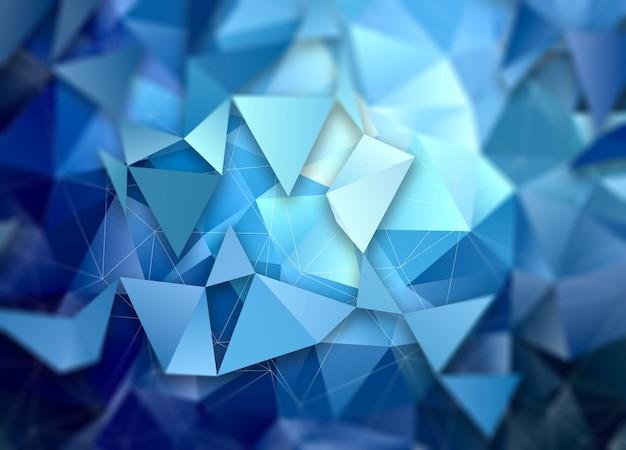 Niedriger abstrakter polyhintergrund 3d