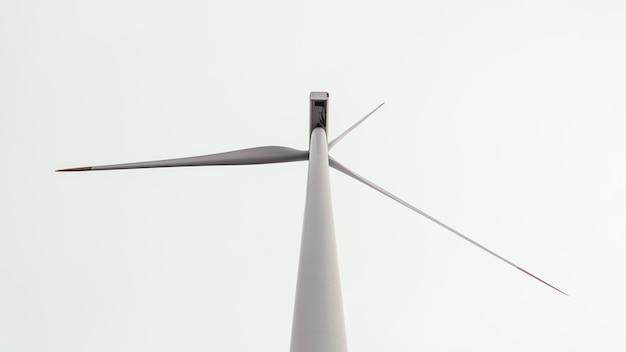 Niedriger winkel der windkraftanlage