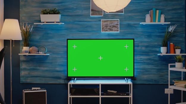 Niemand mit greenscreen-technologie auf dem display