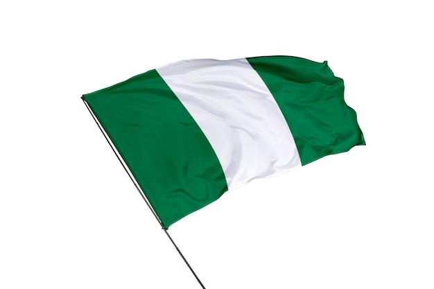 Nigeria-flagge auf weißem hintergrund