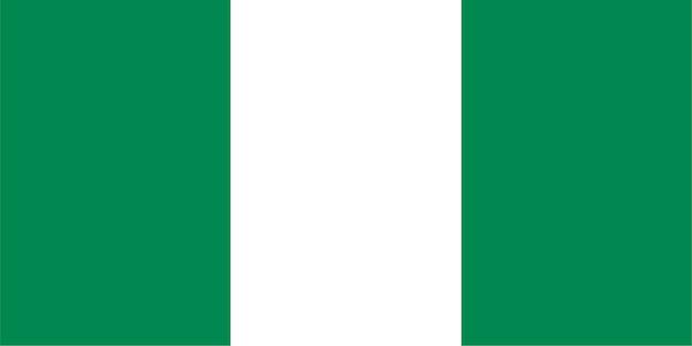 Nigerianische flagge von nigeria