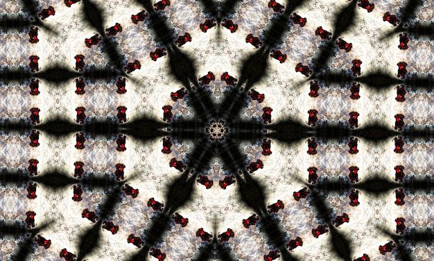 Noir-kaleidoskop. kann für malbuchseitendesign, anti-stress-hobby für erwachsene verwendet werden. noir-thema, schwarz-weiß-abbildung.
