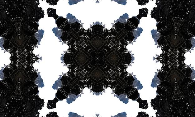 Noir-kaleidoskop. kann für malbuchseitendesign, anti-stress-hobby für erwachsene verwendet werden. noir-thema, schwarz-weiß-abbildung