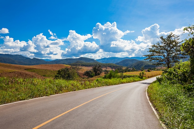 Nordthailand-landschaft