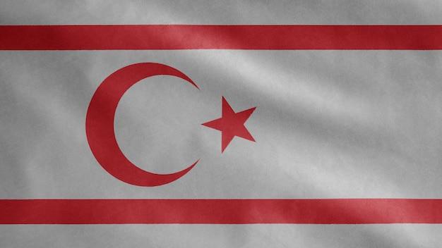 Nordzypriotisches winken der flagge im wind