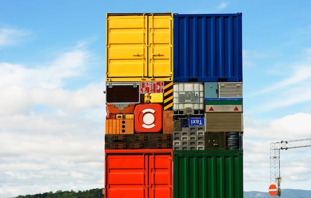 Norwegen bunte transportkisten hintergrund hd