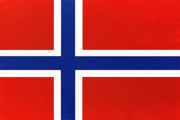 Norwegen national stoff flagge