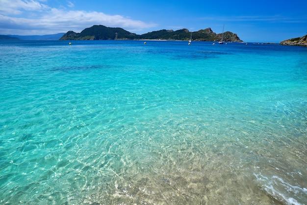 Nostra senora strand in islas cies inseln von vigo