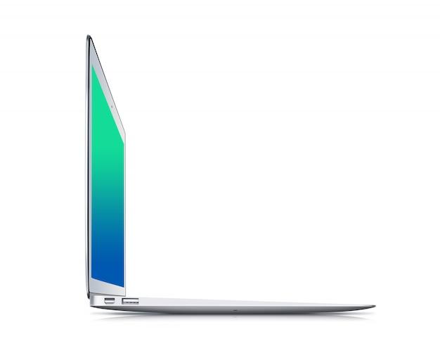Notebook isoliert auf weißem hintergrund