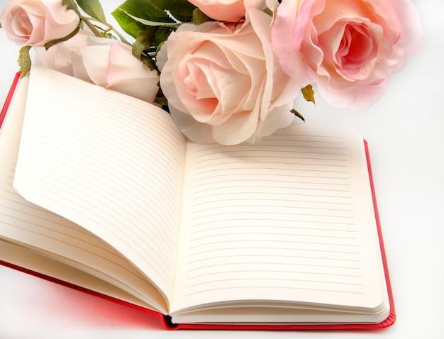 Notebook mit blumen