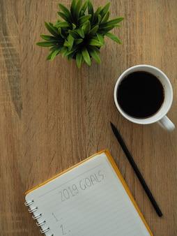 Notebook und 2019 ziele ins neue jahr