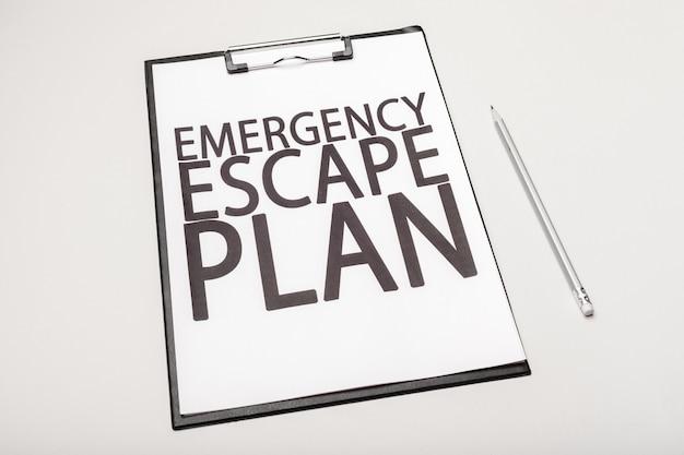 Notfall evakuierungsplan