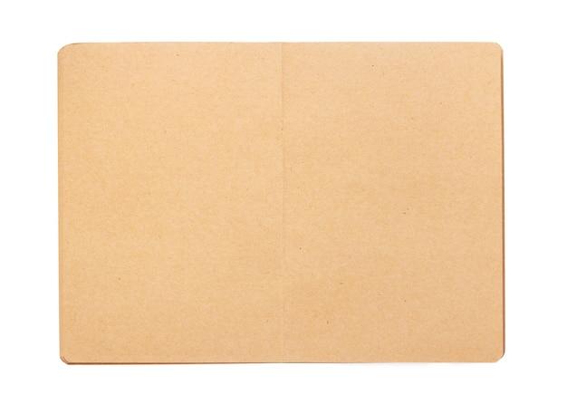 Notizblock oder notizbuchpapier auf weißem hintergrund, ansicht von oben