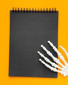 Notizblock von oben für halloween