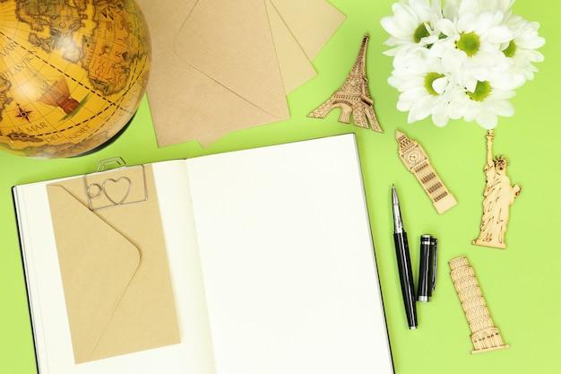 Notizen und reisesymbole