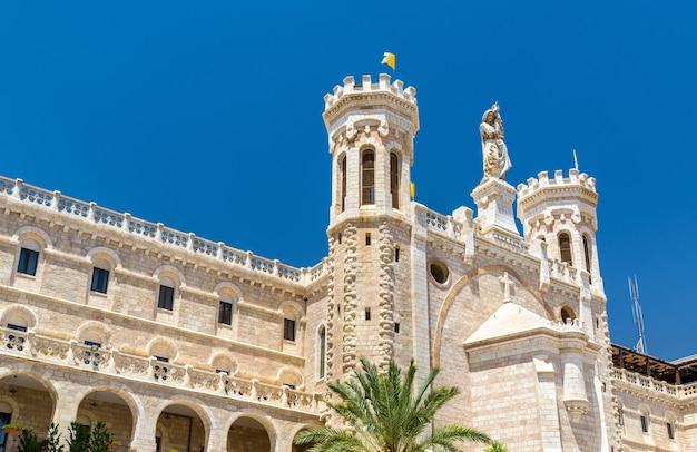 Notre dame von jerusalem center, erbaut 1885, - israel