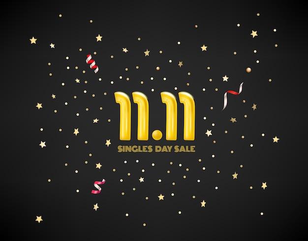 November singles day sale vektor-konzept