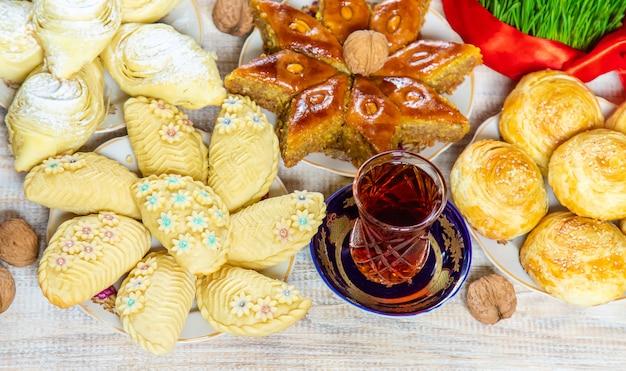 Novruz. aserbaidschanische traditionen. neujahr. selektiver fokus