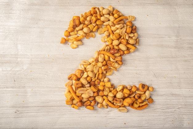 Nüsse machen zahlen, zwischendurch snacks