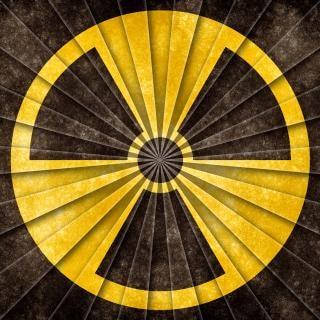 Nukleare symbol grunge vintage