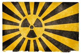 Nuklearen burst grunge flag