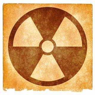 Nuklearen grunge zeichen