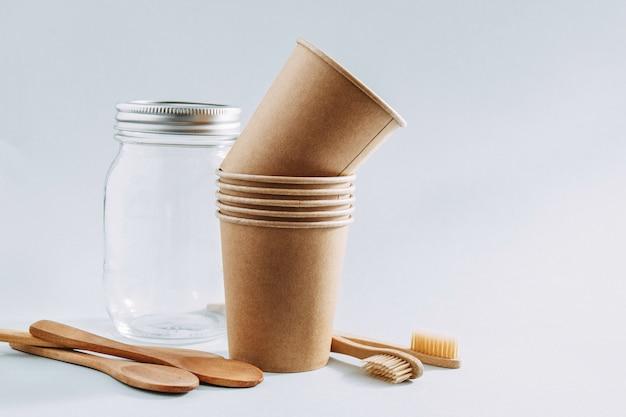 Null-abfall-konzept mit nachhaltigen produkten