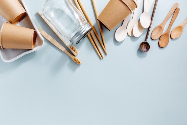 Null abfall mit nachhaltigen produkten