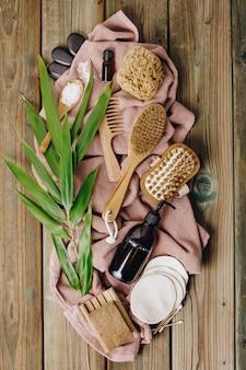 Null abfall, umweltfreundliches bad- und spa-zubehör