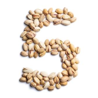 Nummer 5 aus ungeschälten pistazien
