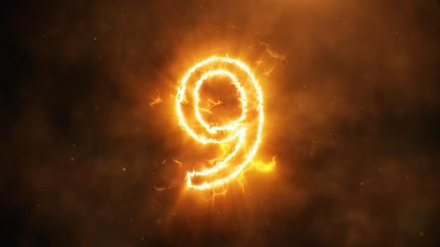 Nummer 9 in flammen