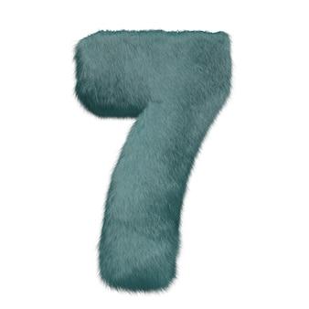 Nummer aus mentholfell auf weißem hintergrund hochwertiges foto