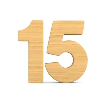 Nummer fünfzehn auf weiß