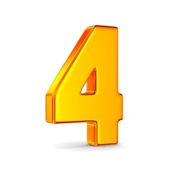 Nummer vier auf leerzeichen
