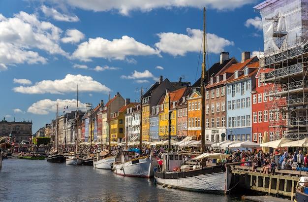 Nyhavn, eine uferpromenade in kopenhagen