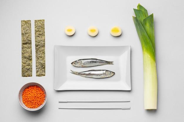 Oben ansicht ansicht sortiment flexible ernährung Premium Fotos