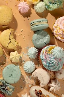Obenansicht dessert-arrangement