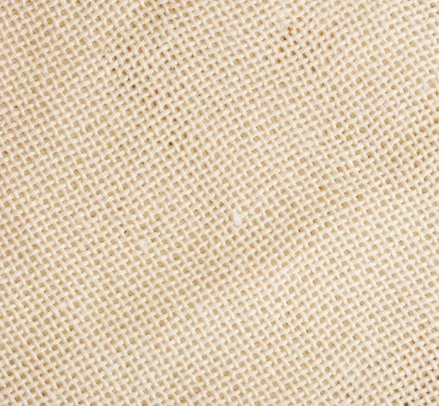 Oberfläche aus weißem grobem leinentuch