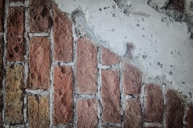 Oberfläche der weinlesebacksteinmauer