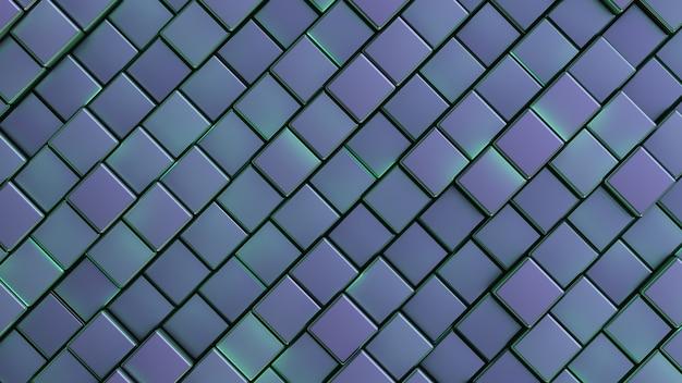 Oberfläche rechteckiger zellen. abstrakter hintergrund.