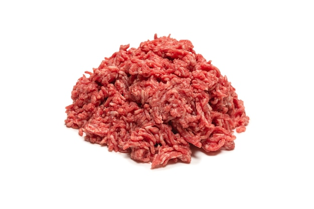 Oberfläche von rohem rinderhackfleisch